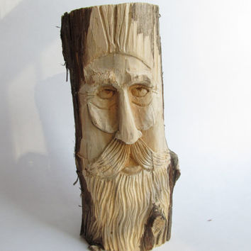 Wood Spirit Rustic Home Decor Garden Ornament by NorthWindCarvings