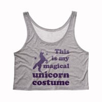Magical Unicorn Costume Crop Tank Top