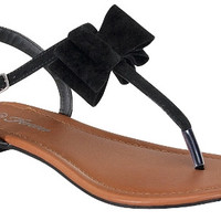 Bow Sandals - Black *FINAL SALE!*