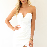 Bustier Dress - White | SABO SKIRT