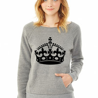 Keep Calm Crown ladies sweatshirt