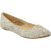 Women's Glittery Pointed-Toe Flats