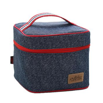 Oxford Picnic InsulatedLunch Bag Square Handbag Kid  Bento Box Pack Drink Food Snack Thermal Leisure Accessories