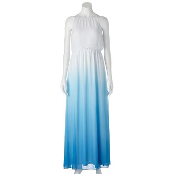 LC Lauren Conrad Dip-Dye Chiffon Maxi Dress