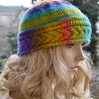 Knitted cap / hat lovely warm autumn accessories  women clothing  Knit Hat Womens