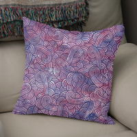 «Purple swirls doodle», Numbered Edition Coussin by Savousepate - From 25€ - Curioos