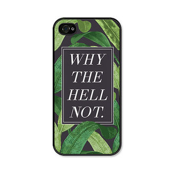 Banana Leaf iPhone Case - Banana Leaf Phone Case - iPhone 6 Case - Banana Leaves - Why the Hell Not - iPhone 5 Case - iPhone 5c Case