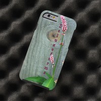 Wood Fence Pink Wildflower Tough iPhone 6 Case