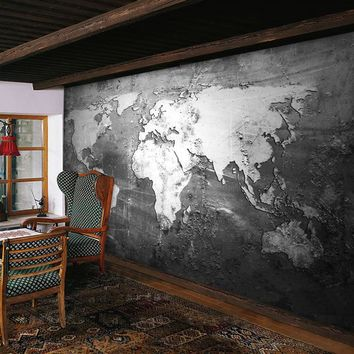 beibehang Custom Mural Wallpaper Retro Style World Map Wallpaper Wall Covering Study  Sofa TV Backdrop Wall Papers Home Decor