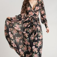 Kathleen Black Floral Maxi Dress