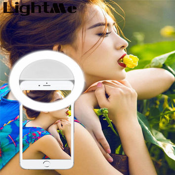 Selfie Protable Flash Phone Photographic Lighting Photography Ring Light for Smartphone iPhone Samsung White Black Led Camera