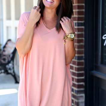 Nude V-Neck Piko {TUNIC}