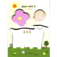 Whimsical Baby Lamb Sheep Bird and Flower Shaped Memo Post-it Adhesive Notepad