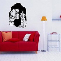 Lion King Cartoon Wall Art Sticker Decal 345