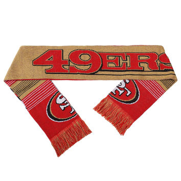 San Francisco 49ers Forever Collectibles Unisex Reversible Split Logo Scarf