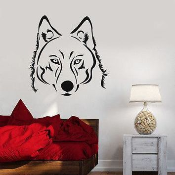 Wall Sticker Vinyl Decal Wolf Tatoo Animal Predator  Unique Gift z508