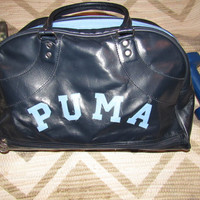 80s PUMA Sports Bag / 80s 90s PUMA Gym Bag / Track and Field / Athletic Bag / Duffel Bag / Tote / Sports Gear / Travel / Personal Luggage