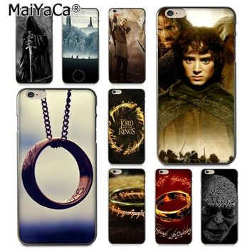 MaiYaCa Movie Lord of The Rings  Luxury High-end Protector phone Case for Apple iPhone 8 7 6 6S Plus X 5 5S SE 5C Cover