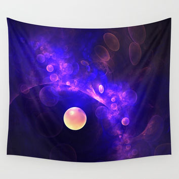Purple Universe Wall Tapestry by lyle58