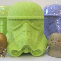 1 LARGE Bath Bomb with Sci Fi Toy Inside
