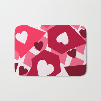 Shaped Heart Bath Mat by Colorful Art