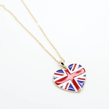 UK flag necklace