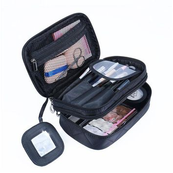 DKF4S Lady Organizer Makeup Bag Travel Organizer Cosmetic Bag for Women Large Necessaries Make Up Case Wash Toiletry Bag