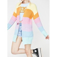 Candy Rainbow Cardigan