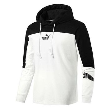 Puma sportswear men's autumn new hoodie hoodie mosaics sport casual long-sleeve knit jackets