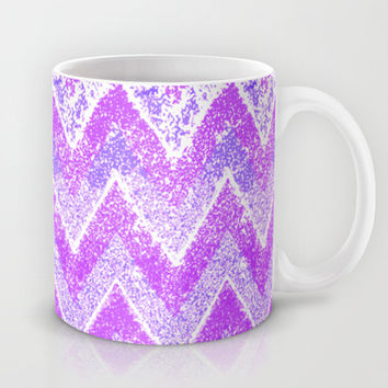 purple snow chevron Mug by Marianna Tankelevich