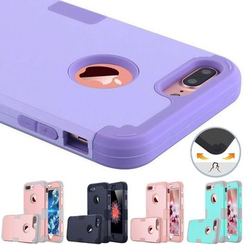 Hybrid Rugged Silicone Case for iPhone 7 Case Armor Dual Layer Plastic+Rubber Phone Covers for iPhone 6s 7 Plus 5s SE Capa