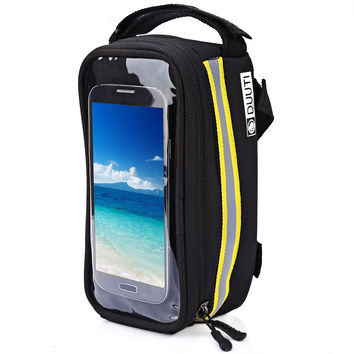 DUUTI Outdoor Cycling Mountain Bike Bicycle Bag Frame Tube Panniers Waterproof Screen Phone Case Reflective Bag Basket