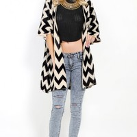 Chevron Patterned Cardigan | MakeMeChic.com