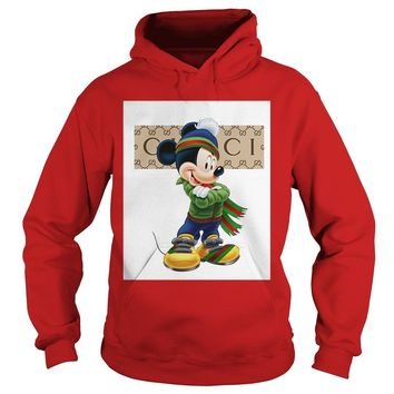 Official Gucci Mickey Mouse Green Shirt Hoodie