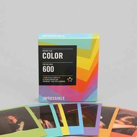 Impossible Multicolor Polaroid 600 Instant Film- Pastel Rainbow One