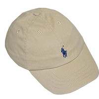 Ralph Lauren Infant Unisex Cotton Twill Baseball Cap (One size, Classic khaki)