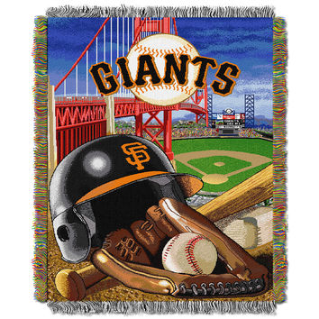 San Francisco Giants MLB Woven Tapestry Throw (Home Field Advantage) (48x60)
