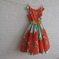 red poppy tea dress by sohomode on Etsy