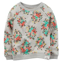 Carter's Floral French Terry Sweatshirt - Baby Girl, Size: