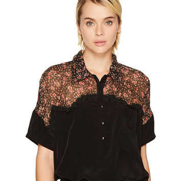 The Kooples Short Sleeved Bat-Style Polo Shirt