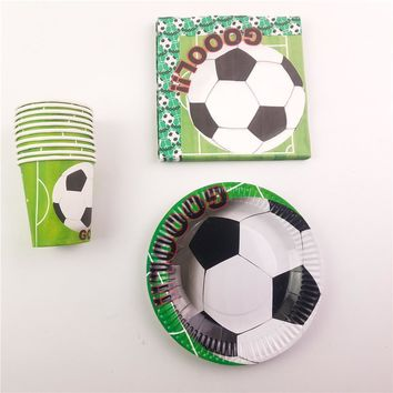 Football Soccer Theme Kids Birthday Party Decoration Set Party Supplies Football World Cup Party Pack event Party Supplies 40pcs