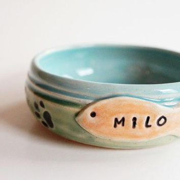 Custom Cat Food Bowl Personalized With Name Pet Bowl