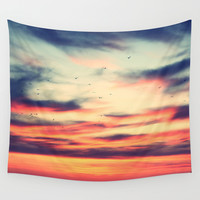 Sunset Wall Tapestry by JoanaRosaC
