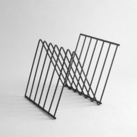 Mid Century Metal Magazine Rack by Hindsvik on Etsy