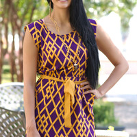 LSU Lattice Dress | 7 Chics