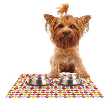 "Julia Grifol ""Happy Circles"" Dog Place Mat"