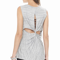 Marl One Eleven Twist Back Tank from EXPRESS