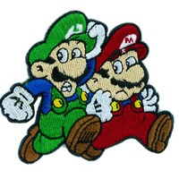Super Mario Bros. Patch Iron on Applique Alternative Clothing Luigi Nintendo