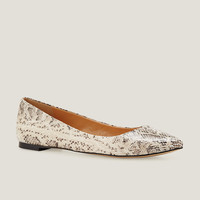 Embossed Pointy Toe Flats