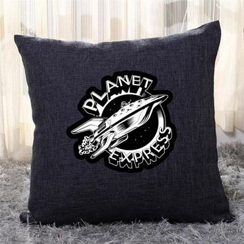 Planet Express Black And White, The Simpsons Throw Pillow Cover